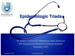 Epidemiologic Triads