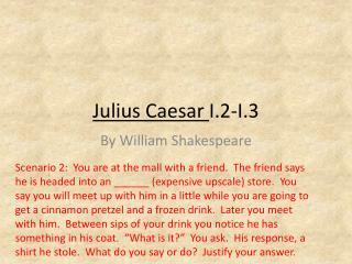 Julius Caesar  I.2-I.3