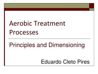 Aerobic Treatment Processes