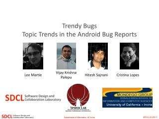 Trendy Bugs Topic  Trends in the Android Bug Reports