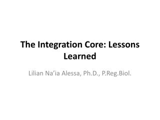 The Integration Core: Lessons Learned