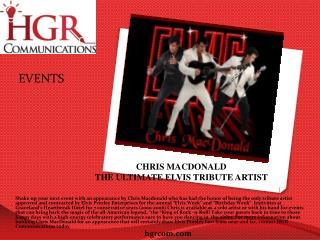 CHRIS MACDONALD THE ULTIMATE ELVIS TRIBUTE ARTIST