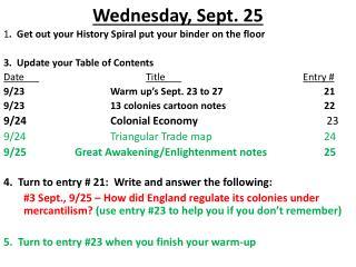 Wednesday, Sept. 25