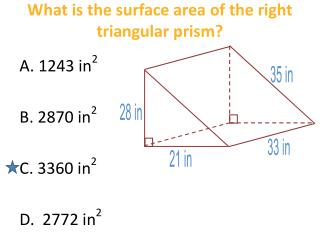 What is the surface area of the right triangular prism?