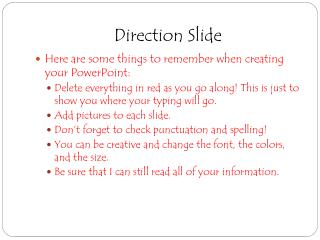 Direction Slide