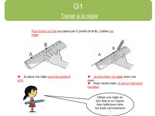 G1 Tracer � la r�gle