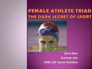 FEMALE Athlete Triad The Dark Secret of Sport