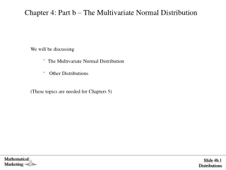 Chapter 4 Multivariate distributions