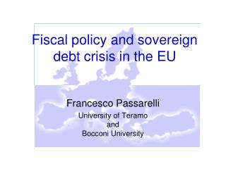 Fiscal policy and sovereign debt crisis in the EU