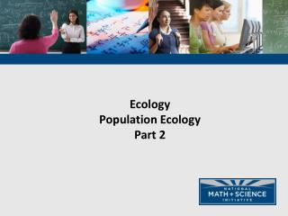 Ecology Population Ecology Part 2