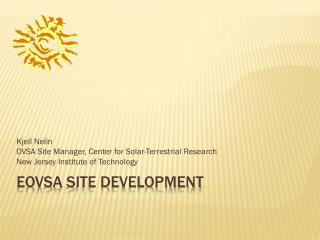 Eovsa  Site development