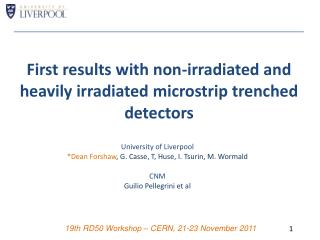 First results with non-irradiated and heavily irradiated  microstrip  trenched detectors