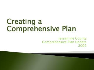 Jessamine County Comprehensive Plan Update 2009