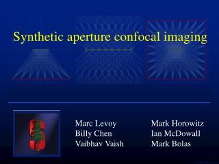 Synthetic aperture confocal imaging