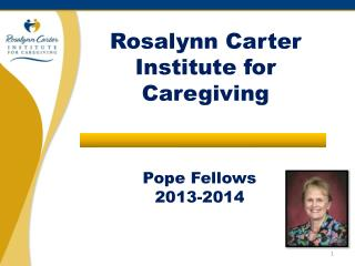 Pope Fellows 2013-2014