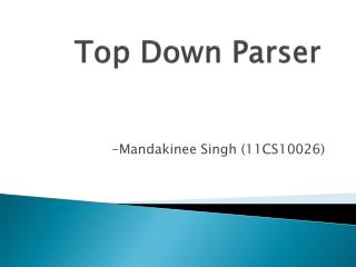Top Down Parser
