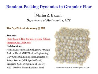 Random-Packing Dynamics in Granular Flow