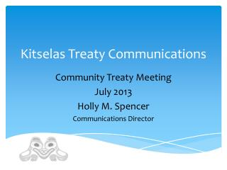 Kitselas Treaty Communications