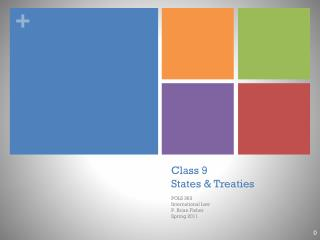 Class 9 States & Treaties