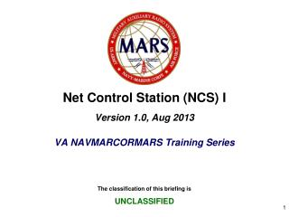 Net Control Station (NCS) I Version 1.0, Aug 2013