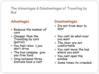 The Advantages & Disadvantages of Travelling by Bus