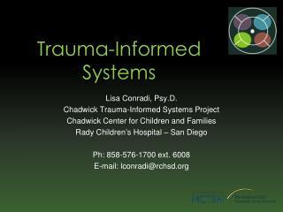 Trauma-Informed Systems