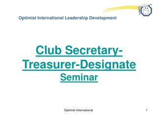 Optimist International Leadership Development