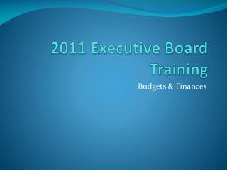 2011  Executive Board Training