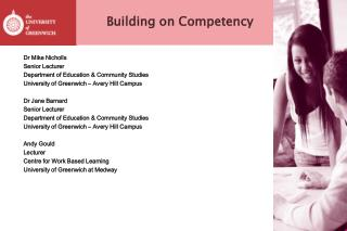 Building on Competency