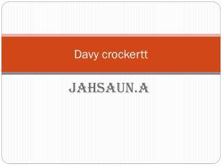 Davy crockertt