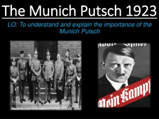 The Munich Putsch 1923