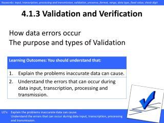 4.1. 3 Validation and Verification