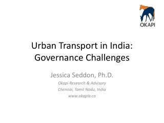 Urban Transport in India: Governance Challenges