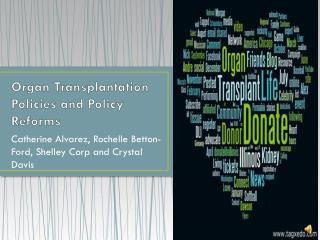 Organ Transplantation Policies and Policy Reforms