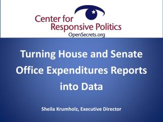 Turning House and Senate  Office Expenditures Reports  into Data