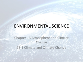 Chapter 13 Atmosphere and Climate Change