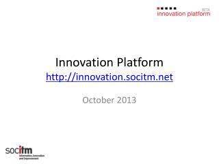 Innovation Platform innovation.socitm