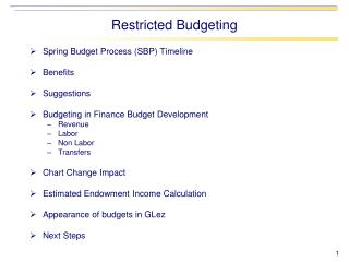 Spring Budget Process (SBP) Timeline Benefits Suggestions Budgeting in Finance Budget Development