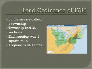 Land Ordinance of 1785