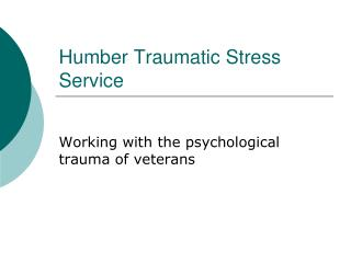 Humber Traumatic Stress Service