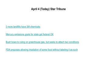 April 4 Today Star Tribune