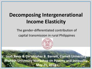 Decomposing Intergenerational Income Elasticity