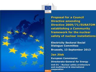 Electricity  Sectoral  Social Dialogue Committee Brussels, 13 September 2013 Jan  Jilek