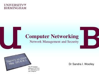 Computer Networking Network Management and Security