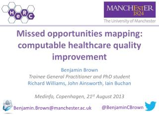 Missed opportunities mapping: computable healthcare quality improvement
