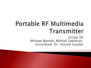 Portable RF Multimedia Transmitter
