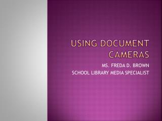 Using document cameras