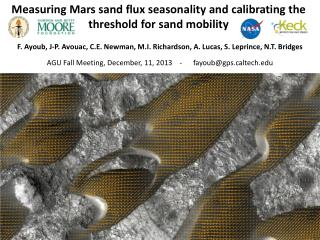 Measuring Mars sand flux seasonality  and  calibrating the threshold for sand mobility