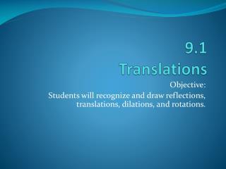 9.1  Translations