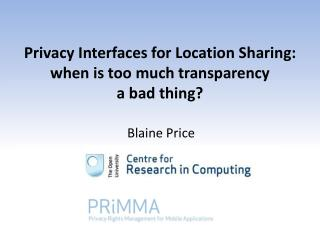 Privacy Interfaces for Location Sharing:  when is too much transparency  a bad thing?